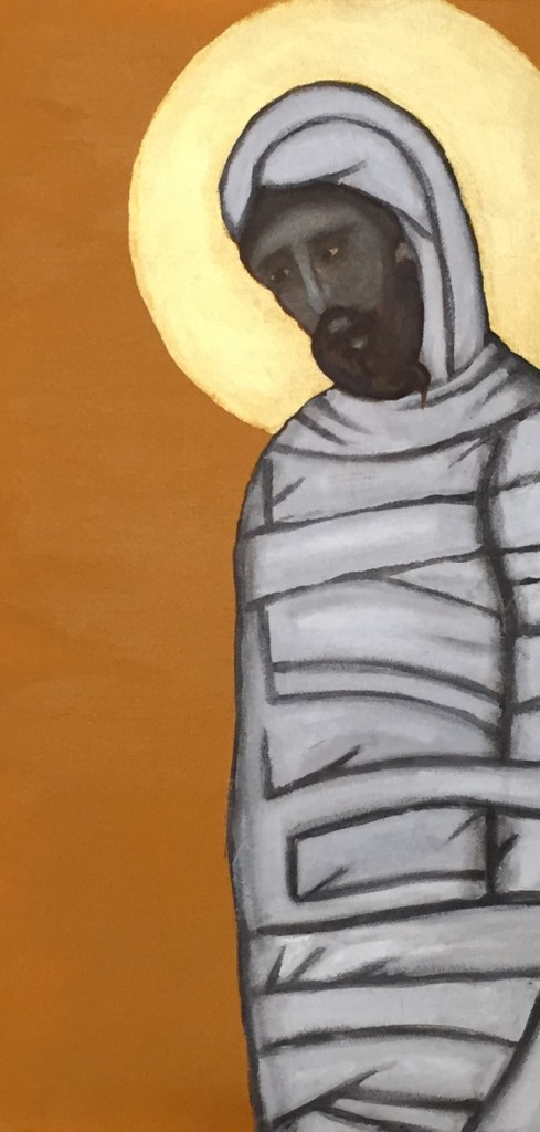 Lazarus. 12x24 acrylic on canvas. 2015. Rick Morley